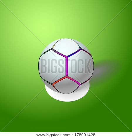Soccer ball for your design. Football logo.