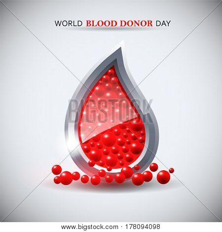 World blood donor day image. Vector illustration.