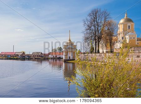 Monastery on the shore of Lake Seliger