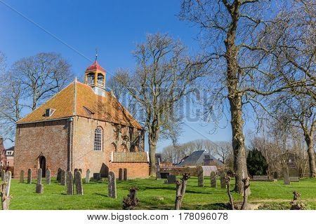 Medieval Church In The Center Of Thesinge
