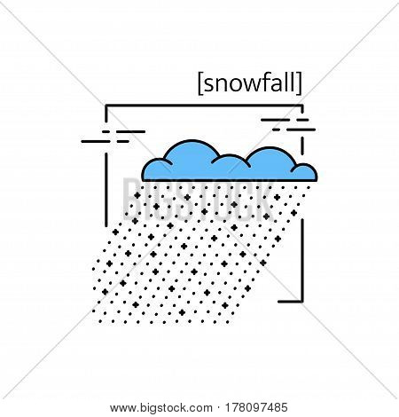 Line Vector Icons With Symbol Weather. Isolated Snow Icon. Snowy Weather, Snowing. Suitable For Webs