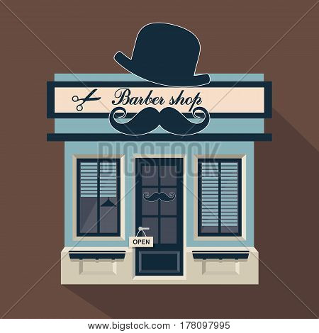 Illustration Little Cute Barber-shop
