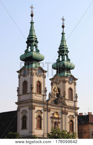 The Saint Anne Church in Budapest, Hungary