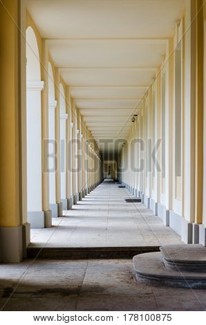 Gallery in the Palace of Oranienbaum play of light and shadow.