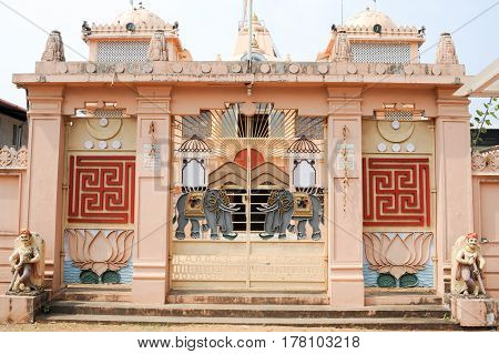 Fort Cochin, India - 16 January 2015: Hindu temple of Jain at Fort Cochin on India