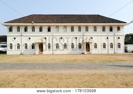 Fort Cochin, India - 16 January 2015: Colonial building of Fort Cochin on India