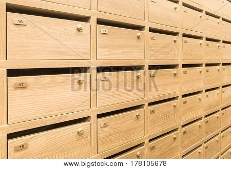 Locker wooden MailBoxes postal for keep your information billspostcardmails etc