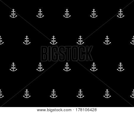 Stylish fashion ornament. Decorative fabric texture print. Flat illustration. Vector naval background