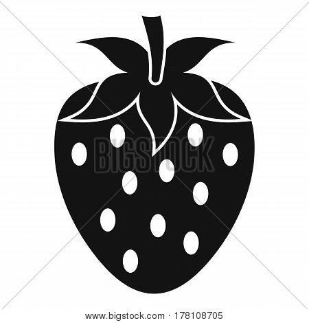 One strawberry berry icon. Simple illustration of one strawberry berry vector icon for web