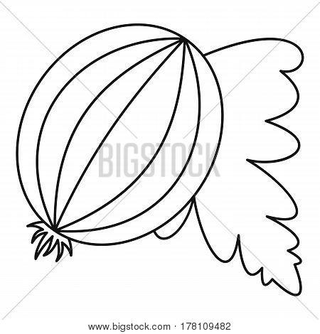 Gooseberry fruit icon. Outline illustration of gooseberry fruit vector icon for web