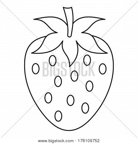 Strawberry icon. Outline illustration of strawberry vector icon for web