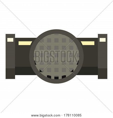 Drainage system icon. Flat illustration of drainage system vector icon for web isolated on white background