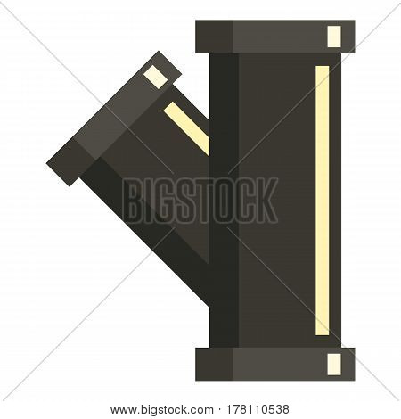 Sewerage pipe icon. Flat illustration of sewerage pipe vector icon for web isolated on white background