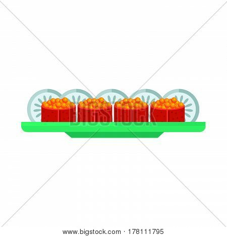 yellow spawn sushi rolls set vector design support eps 10.
