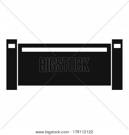 Pipe piece icon. Simple illustration of pipe piece vector icon for web
