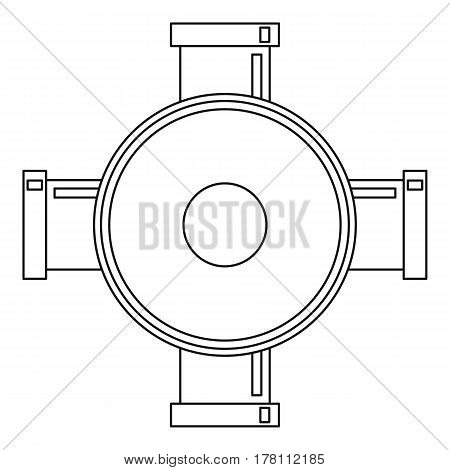 Connection pipes icon. Outline illustration of connection pipes vector icon for web