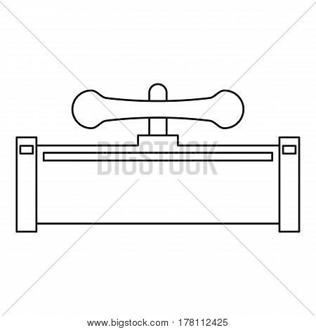 Pipe with water valve icon. Outline illustration of pipe with water valve vector icon for web