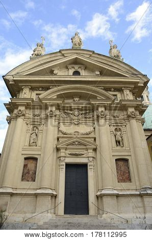 Mausoleum of the emperor Ferdinand II in Graz the capital of federal state of Styria Austria.
