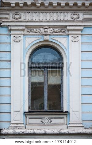 Old window in a classic style. Architecture