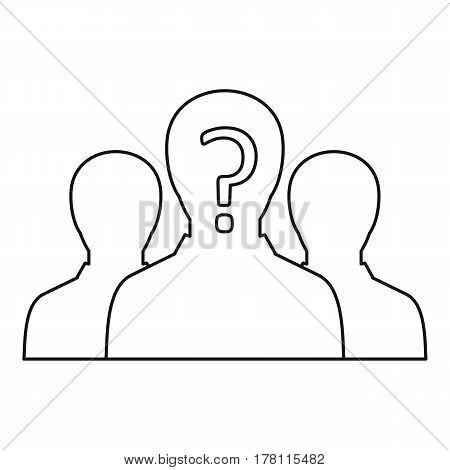 Group of business people icon. Outline illustration of group of business people vector icon for web