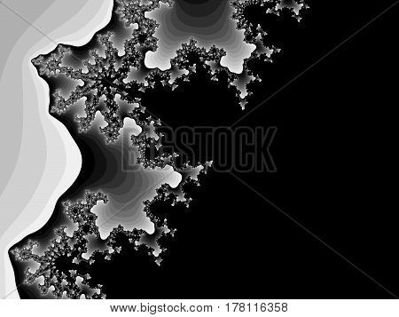 Grayscale Fractal Background