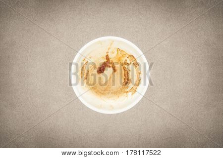 Empty Coffee Cup On Fine Art Texture With Vintage Colour Style