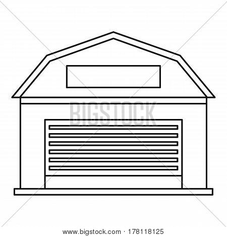 Warehouse building icon. Outline illustration of warehouse building vector icon for web