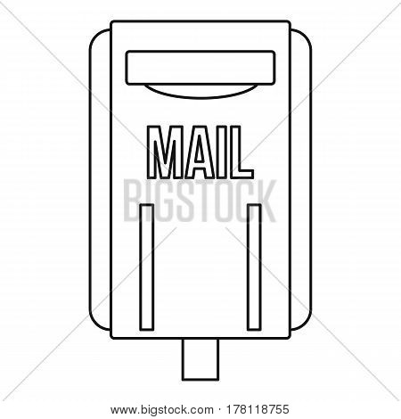 Mail box post icon. Outline illustration of mail box post vector icon for web