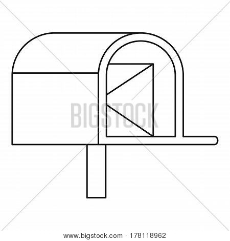 Mailbox with mail icon. Outline illustration of mailbox with mail vector icon for web