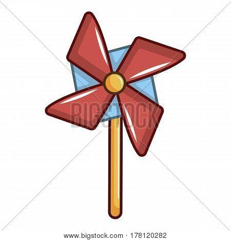 Pinwheel toy icon. Cartoon illustration of pinwheel toy vector icon for web