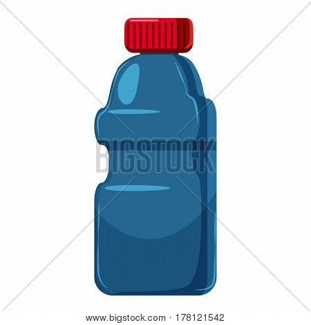 Plastic bottles of cleaning product icon. Cartoon illustration of plastic bottles of cleaning product vector icon for web