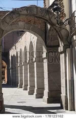 Avila (Castilla y Leon Spain): the historic market square