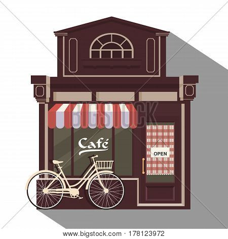 Illustration Little Cute Retro Cafe
