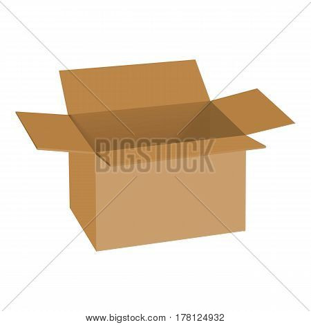 Carton box mockup. Realistic illustration of carton box vector mockup for web