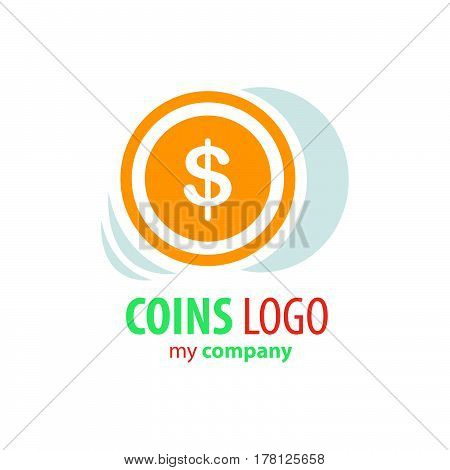 design Logo Coins yellow color vector design support eps10.