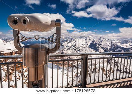 Wonderful View From Top Of Sass Pordoi, Dolomites, Italy, Europe