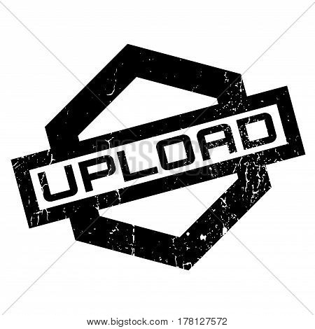 Upload rubber stamp. Grunge design with dust scratches. Effects can be easily removed for a clean, crisp look. Color is easily changed.
