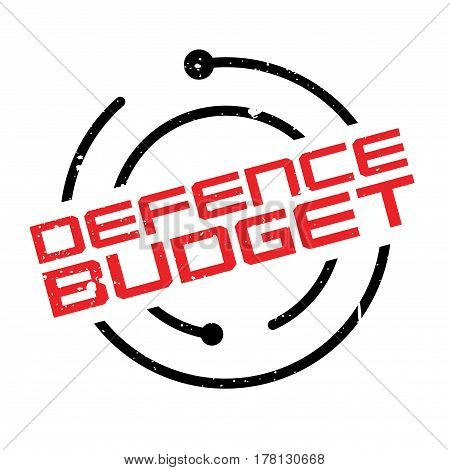 Defence Budget rubber stamp. Grunge design with dust scratches. Effects can be easily removed for a clean, crisp look. Color is easily changed.