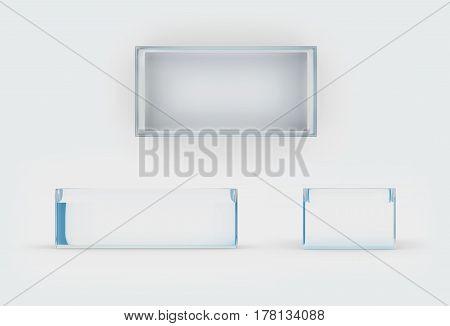 Glass Box Three Side