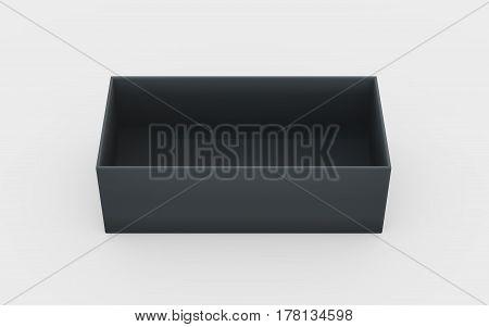 Black Plastic Box Tray High Angle