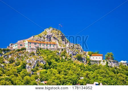 Old Town Knin On Rock Peak