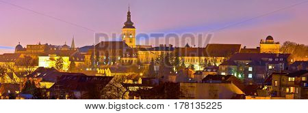 Zagreb Historic Upper Town Night View