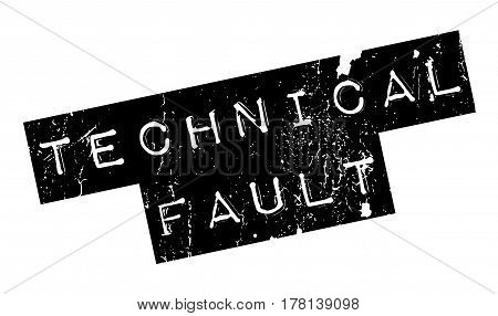 Technical Fault rubber stamp. Grunge design with dust scratches. Effects can be easily removed for a clean, crisp look. Color is easily changed.