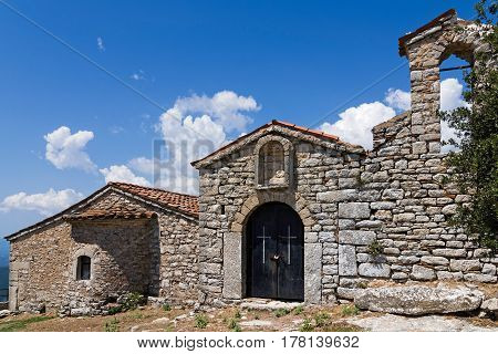 View of the Old Monastery of Voulkano in Peloponnese ,Greece