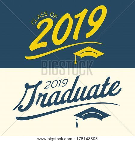 Class Of 2019 Congratulations Graduate Typography