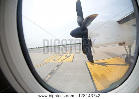 engine and propeller of the plane, Thailand