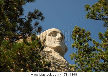 Face of George Washington on Mount Rushmore