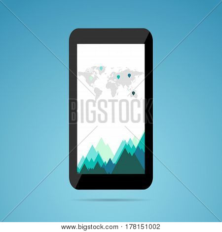 Business Growth Concept. Phone. Useful For Advertising, Social Media, Start Up.
