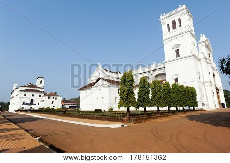 Convent, Church Of St Francis Of Assiisi And Se Cathedral In Old Goa, India
