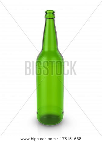 Beer Bottle 3D Illustration